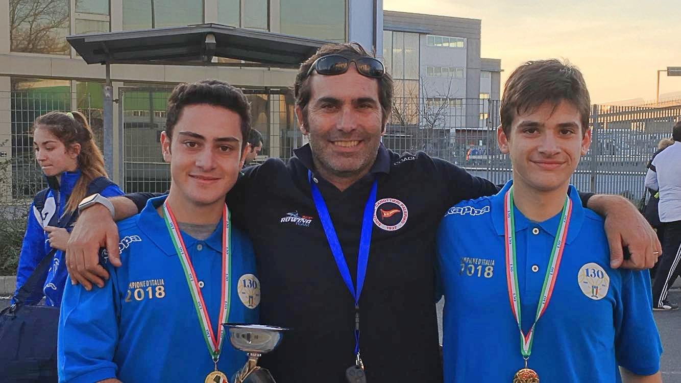 Ai tricolori di fondo a Pisa primi titoli italiani per la Canottieri Palermo